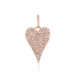 Large Pave Heart Charm