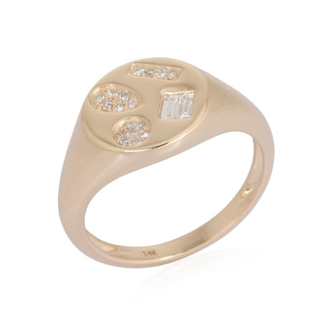 Multi Shape Signet Pinky Ring