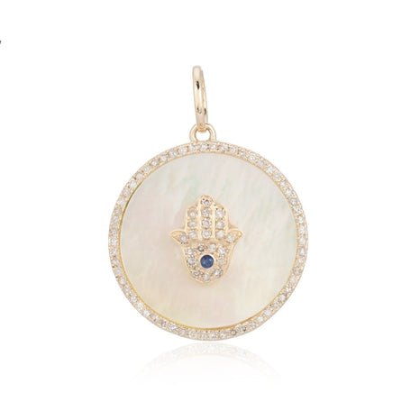 Hamsa Mother of Pearl Charm