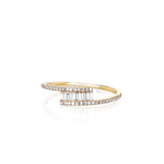 Diamond Baguette Twist Ring