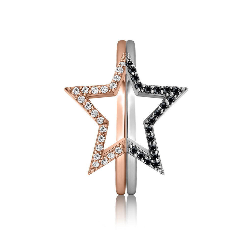 Star Pavé Friendship Rings