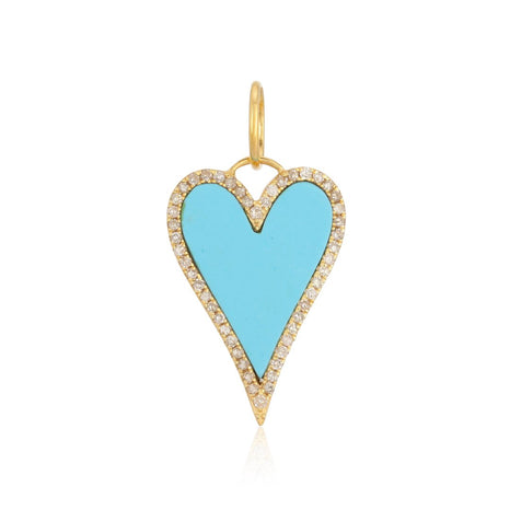 Turquoise Heart Charm