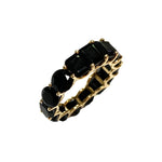 Black Onyx Half and Half Eternity Ring