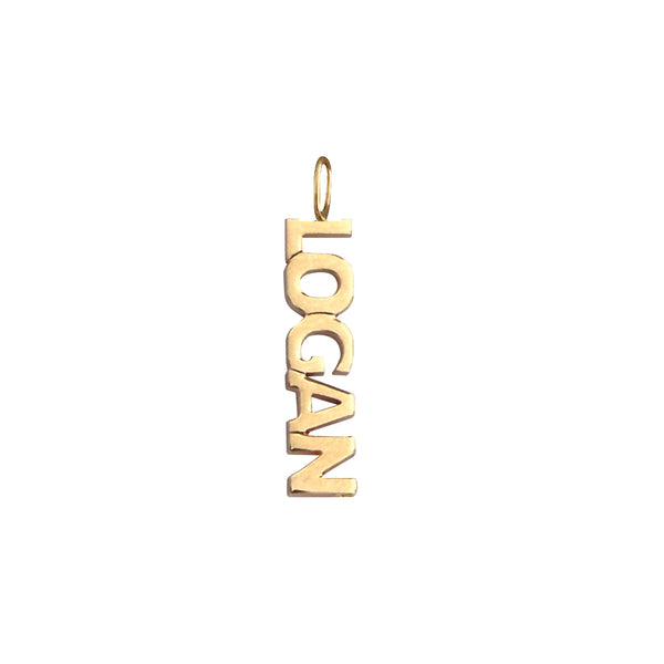 Gold Name Charm