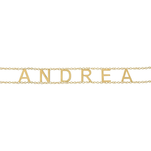 Double Chain Gold Name Bracelet