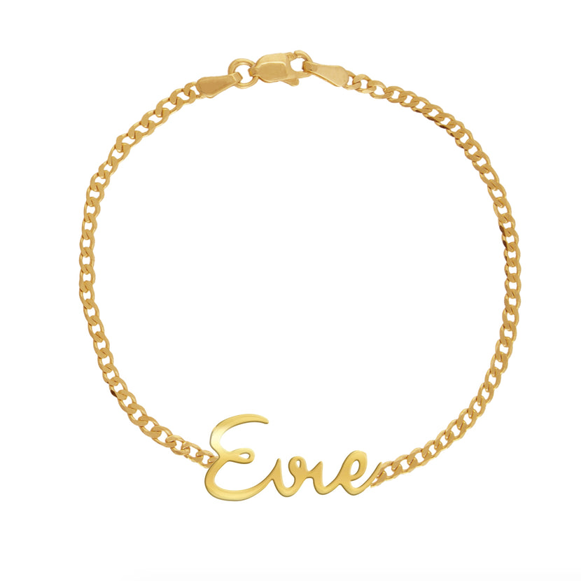 Gold Name Cuban Bracelet