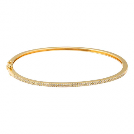 Two Line Pave Bangle