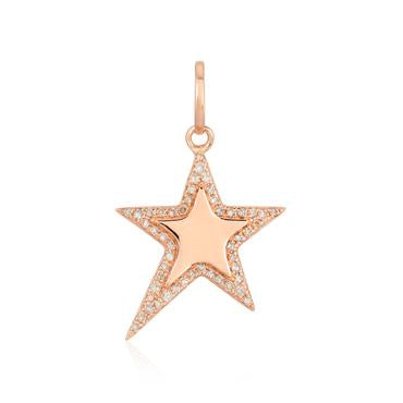 Modern Pave Outline Star