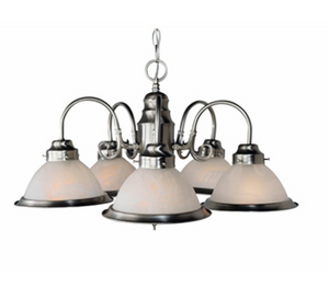 Trans Globe Lighting - 5 Light Chandelier with Down Bell Shades