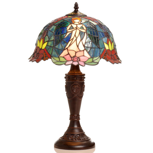 Tiffany-style Angel Table Lamp