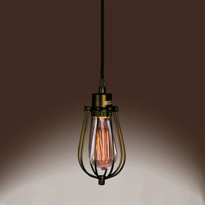 Priscilla Single-light Edison Pendant with Bulb