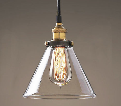 Leona 8-inch Adjustable Cord Glass Edison Lamp