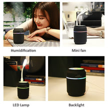 3 in 1 USB Can Air Humidifier with LED Lamp