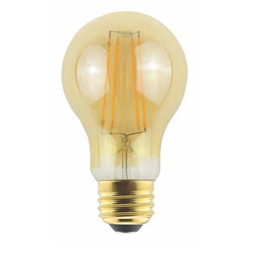 Halco - A19 Amber 5W Antique Filament Bulb
