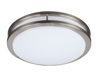 Energetic Lighting - LED Round Metal-Trim Flush Mount