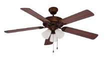 Trans Globe Lighting - 5 Blade 3 Light Ceiling Fan With Light Kit