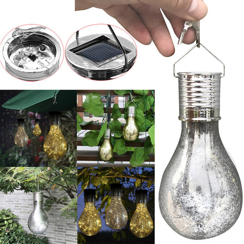 Solar Fairy Light Bulb Lanterns