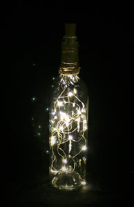 Clear Bottle Wrapped Bottle with Fairy Lights