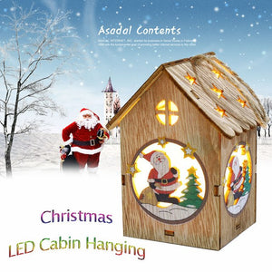 LED Light Wooden Dolls House Villa Christmas