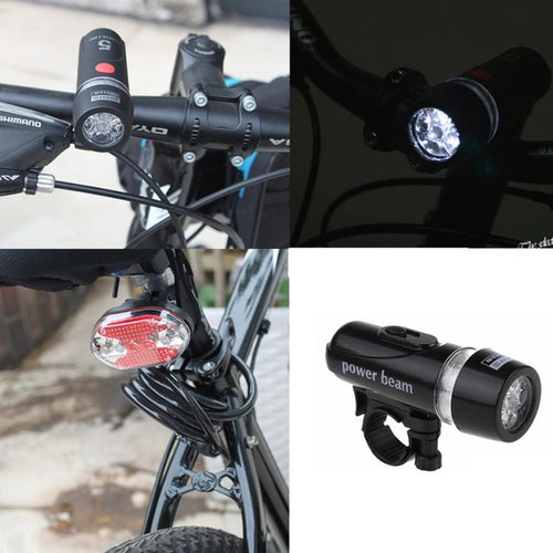 Waterproof 5 LED Lamp Bike Bicycle Front