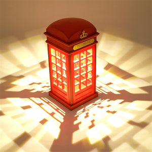 Retro London Telephone Booth Night Light
