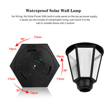Waterproof Solar Wall Lamp Hexagonal Warm White