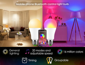 Bluetooth 4.0 Wireless Smart 10W LED Bulb home Lighting E26 Magic RGB +W LED Change Color Light Bulb Dimmable IOS /Android