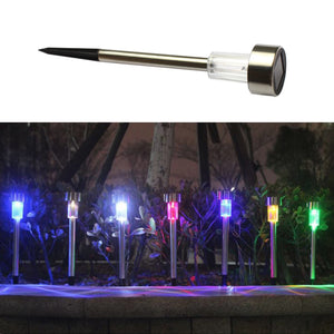 10pcs Solar Stainless Steel  LED Lawn Lights