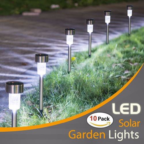 10pcs Solar LED Garden Lights