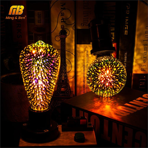 Led Light Bulb 3D Firework Decorations