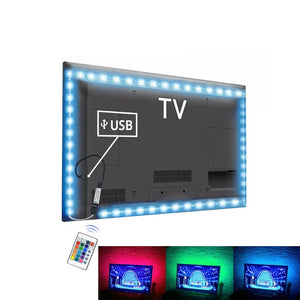 USB LED Strip RGB Tape TV Backlight