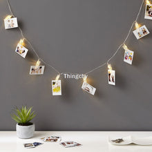 DIY Photo Clip pegs String Lights battery Operated fairy lights