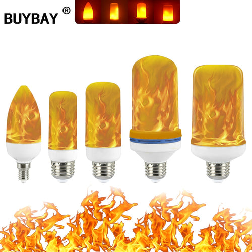 Full Model 3W 5W 7W 9W E26 E12 Flame Bulb 85-265V LED Flame Effect Fire Light Bulbs Flickering Emulation Decor LED Lamp