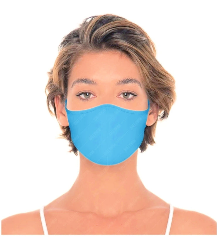 Reversible Unisex Reusable Face Mask - Blue/Royal