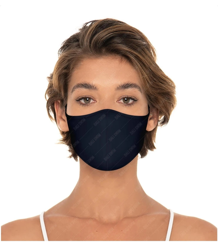 Reversible Unisex Face Mask - Black/Navy