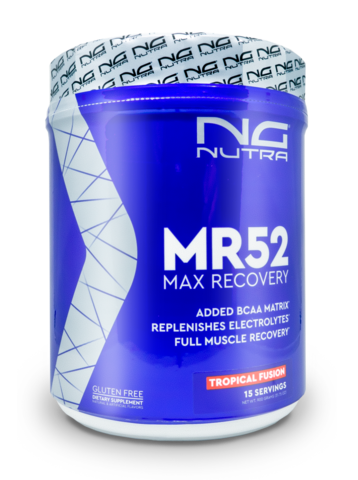 MR52, bcaa matrix, replenish electrolytes, full muscle recovery and protein and carb recovery.