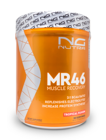 MR46 is used to increase muscle recovery, replenish electrolytes and increase protein synthesis