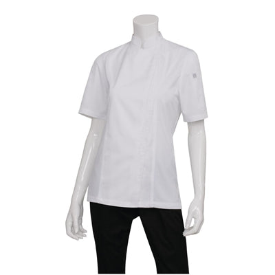 Chef Works Womens Springfield Zip Chefs Jacket White