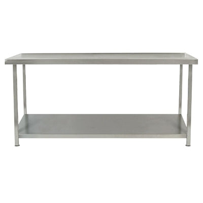 Parry Fully Welded Stainless Steel Centre Table with Undershelf 1200x650mm