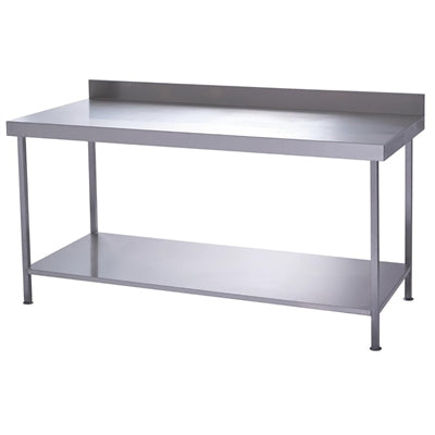 Parry Stainless Steel Wall Table With Undershelf 600(D)mm