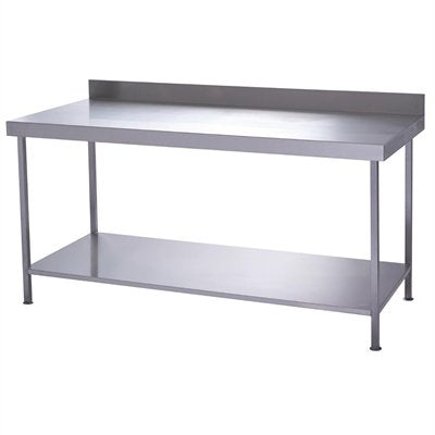 Parry Stainless Steel Wall Table With Undershelf 700(D)mm