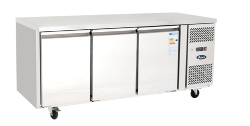 Atosa 3 Door Counter Fridge with 100mm splashback EPF3432GRSB