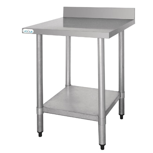 Vogue Heavy Duty Stainless Steel Table with Upstand 600mm x 600mm