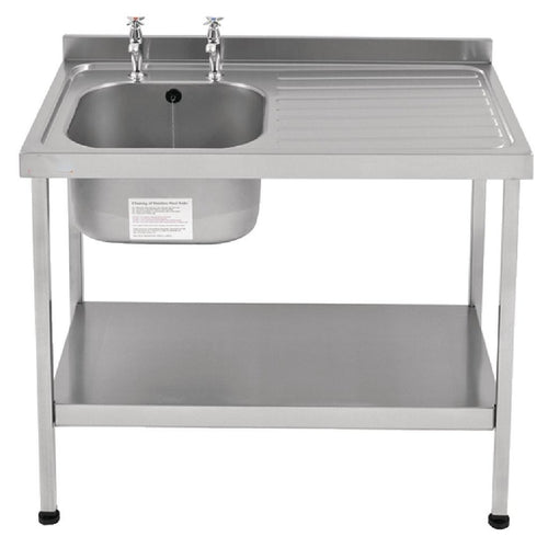 Franke Sissons Self Assembly Stainless Steel Sink Left Hand Drainer 1000x600mm