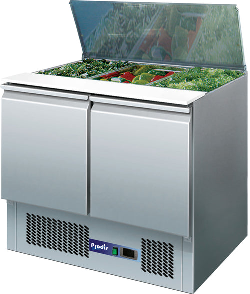 Prodis EC-2SALAD Refrigerated Saladette Prep Table