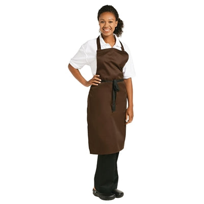 Whites Polycotton Unisex Bib Apron Chocolate