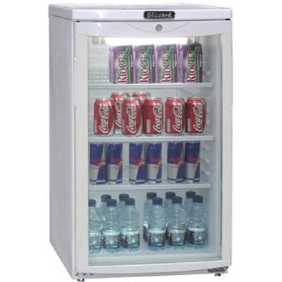 Blizzard Under Counter Display Fridge 105 Ltr