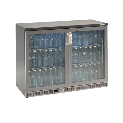 Gamko Bottle Cooler - Double Hinged Door 275 Ltr Stainless Steel