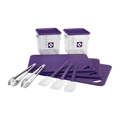 Rubbermaid Colour Coded 12 Piece Foodservice Kit Purple
