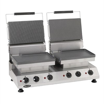 Rowlett Double Contact Grill Flat and Half Ribbed Plates
